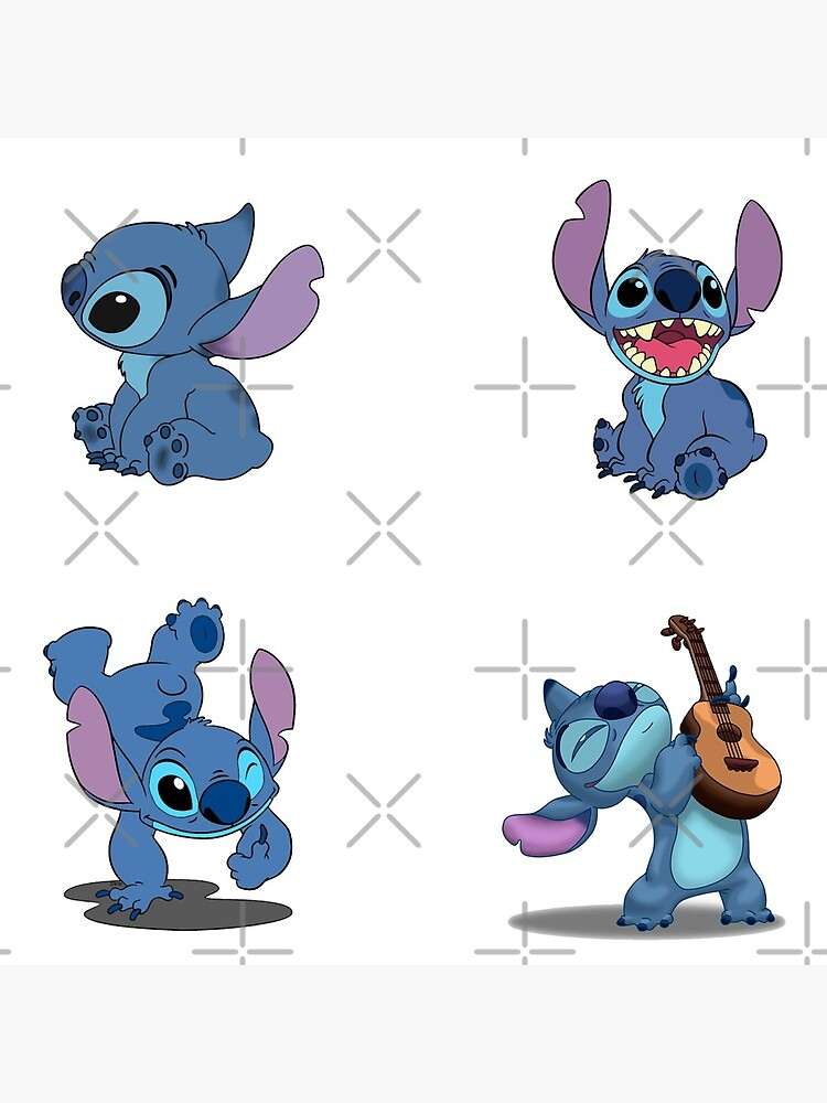 Stitch Stickers-4 Pack by ss52