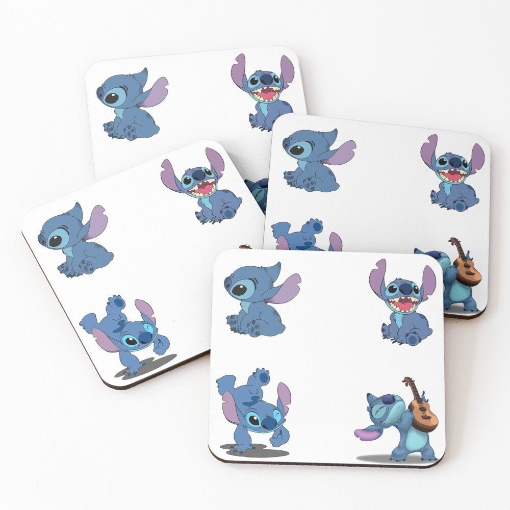 Stitch Stickers-4 Pack Coasters (Set of 4)