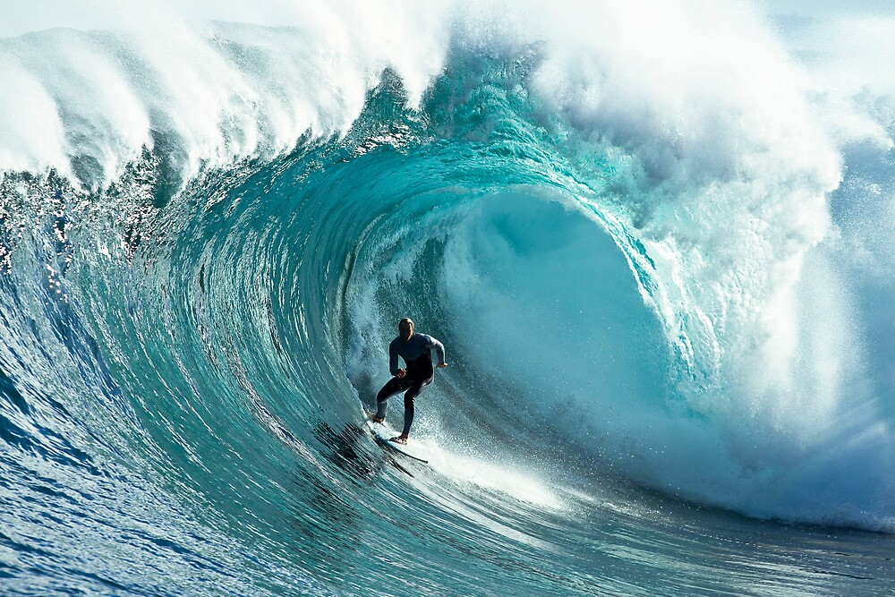 James Hollmer Cross on a monster at Shipstern Bluff by andychiz