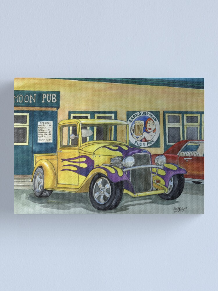 Alternate view of 1932 Hot-Rod Pickup Canvas Print