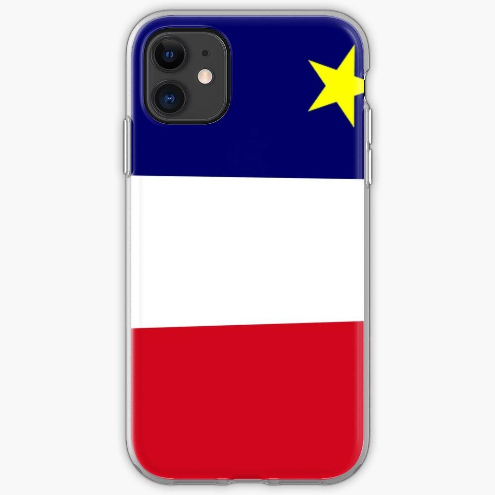 Coque iPhone «Drapeau acadien»