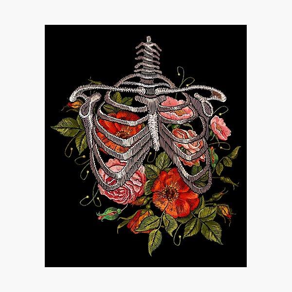 Bones and Botany Halloween Costume Photographic Print