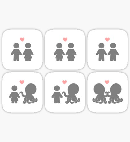 Tentacle Love (stickers) Sticker