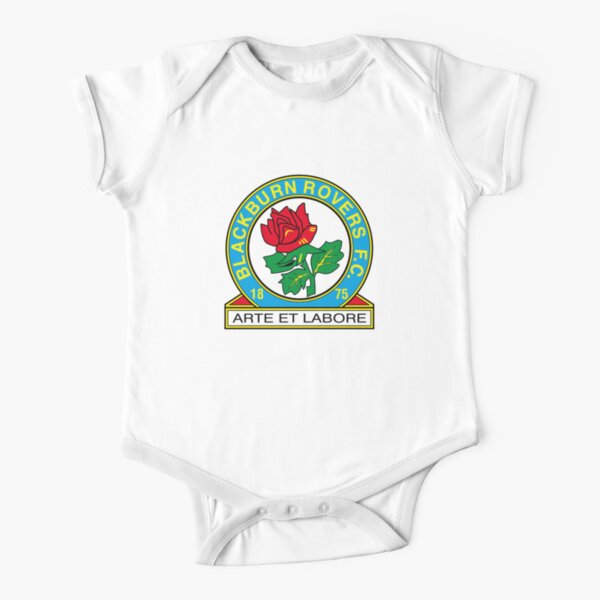 Blackburn Rovers FC logo Short Sleeve Baby One-Piece