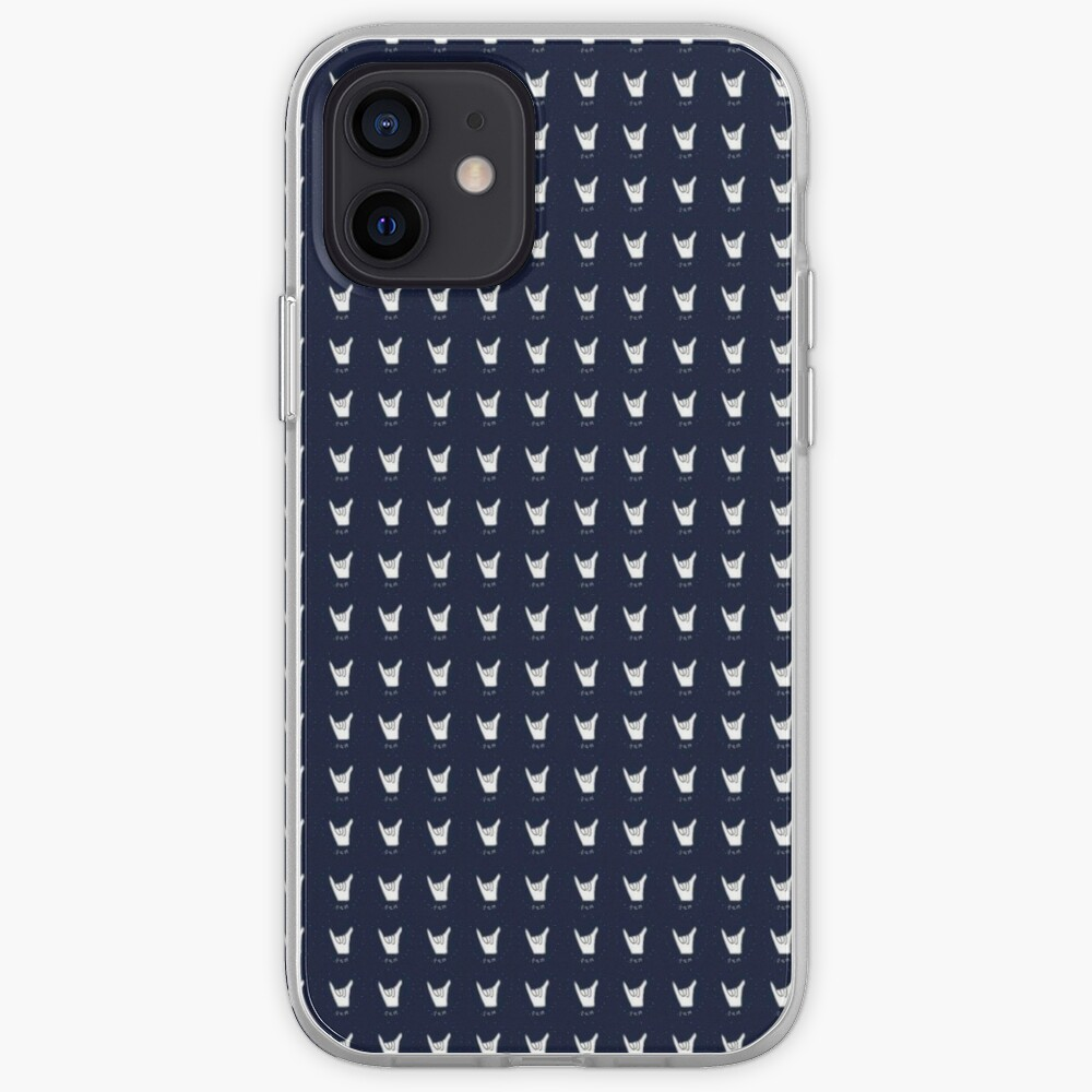 hang 10 navy blue iPhone Case & Cover