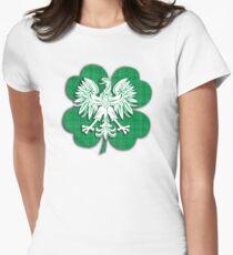 Irish Polish Shamrock Heritage  T-Shirt