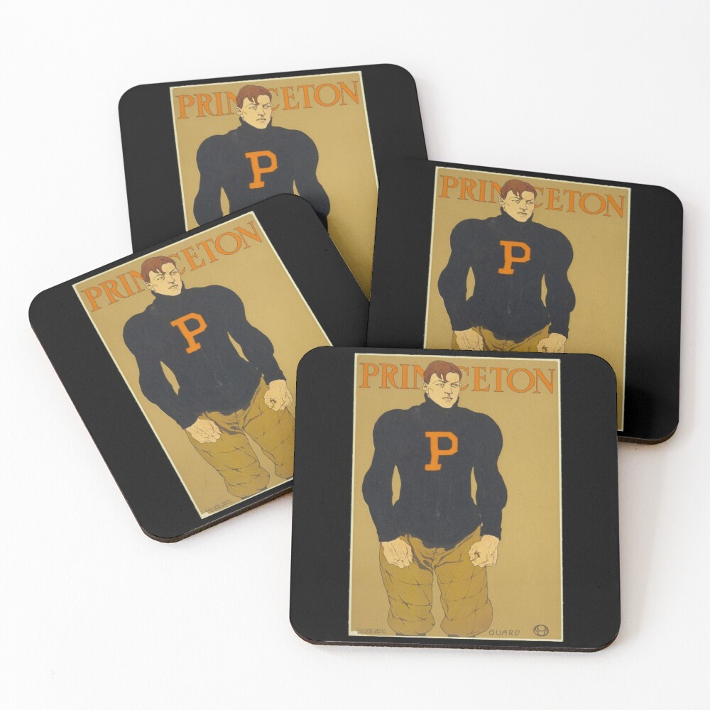 'Princeton' Vintage Poster (Reproduction) Coasters (Set of 4)