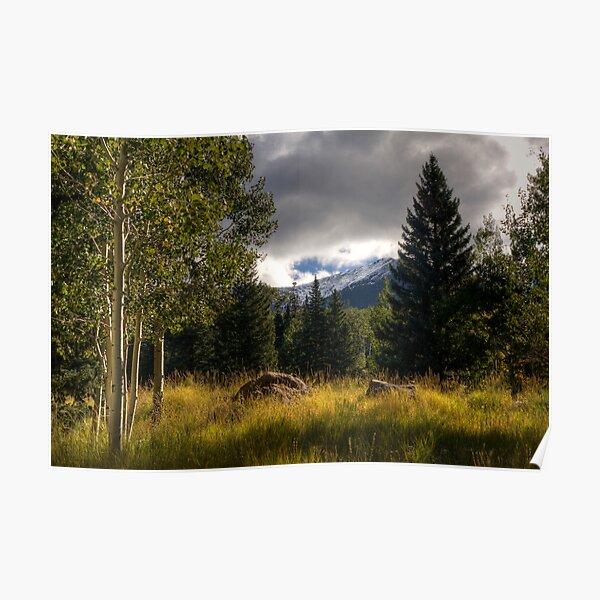 Autumn Mountain Storm Poster