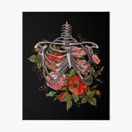 Bones and Botany Halloween Costume Art Board Print