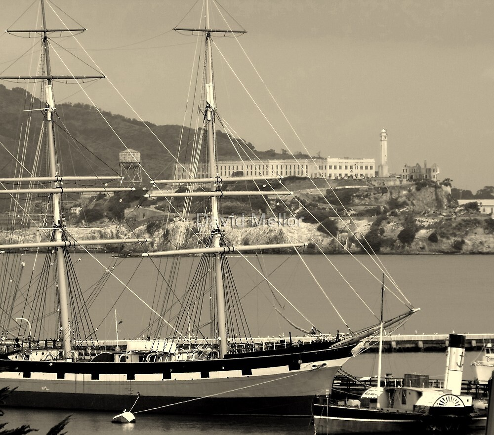 Alcatraz from the Beach - SFO by David Mellor