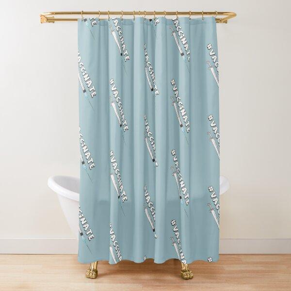 #VACCINATE Public Health Nerd Sticker Shower Curtain