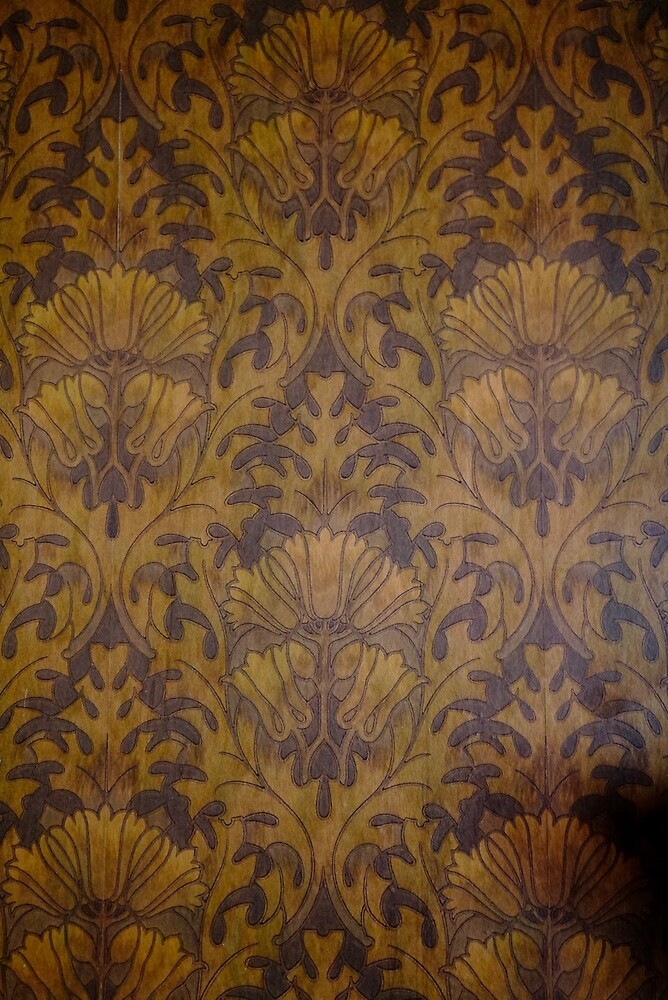Linoleum Wallpaper from Victorian Era Home by Douglas E.  Welch