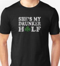 She's My Drunker Half Funny Couples T-Shirt