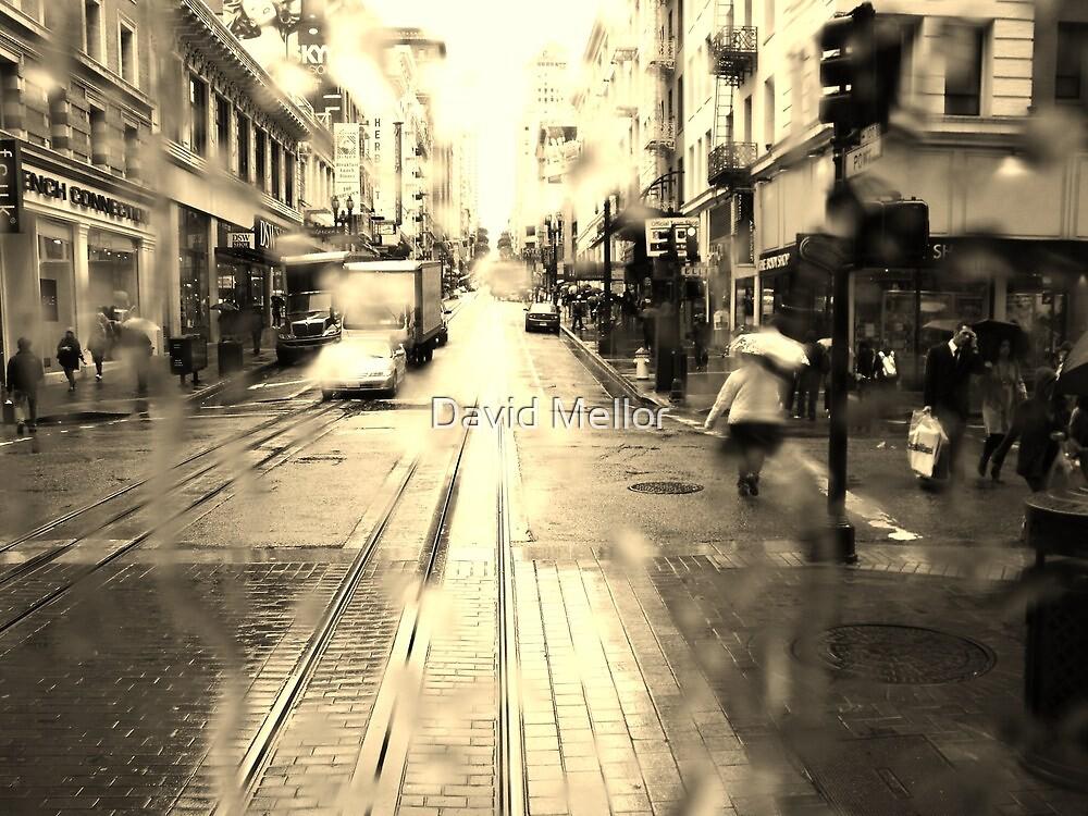 Rainy San Francisco Trolley Ride by David Mellor