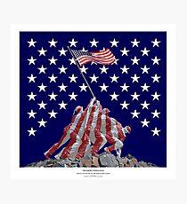 The Empire strikes back - Iwo Jima Photographic Print