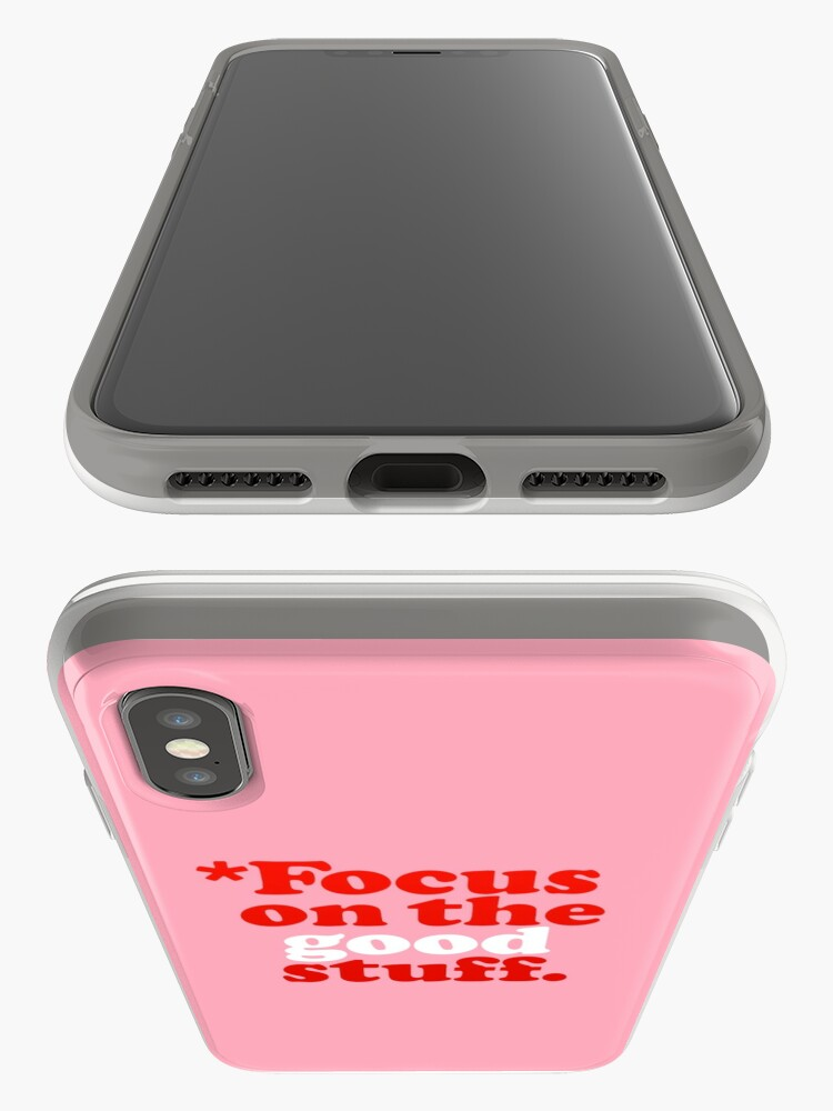 Alternate view of Focus On The Good Stuff {Pink & Red Version} iPhone Case & Cover