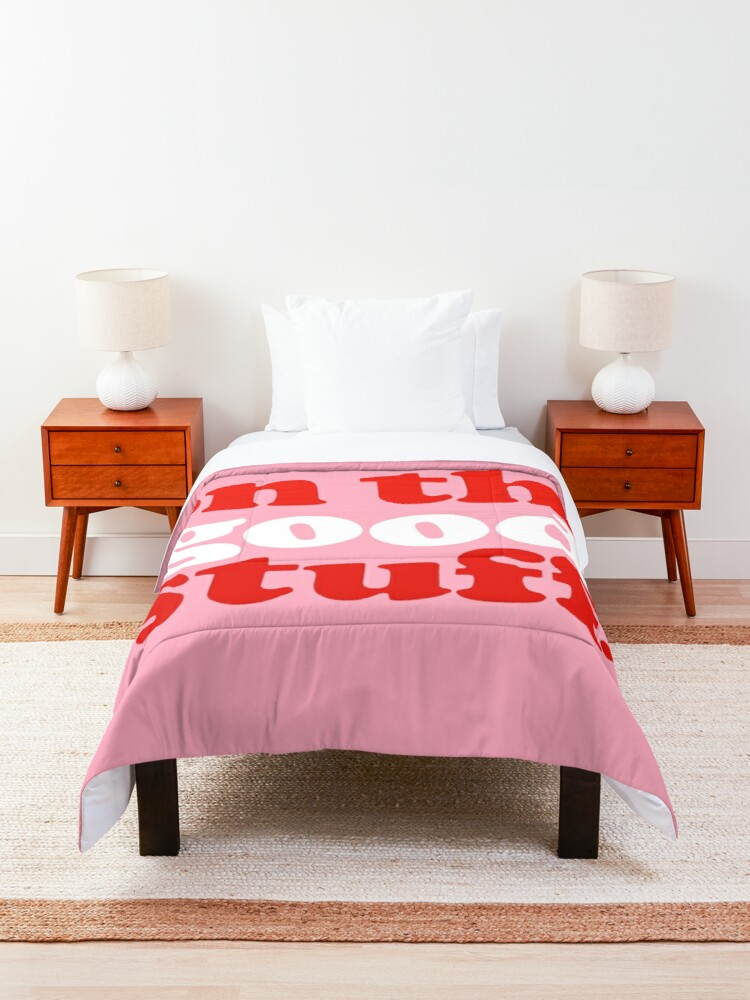 Alternate view of Focus On The Good Stuff {Pink & Red Version} Comforter