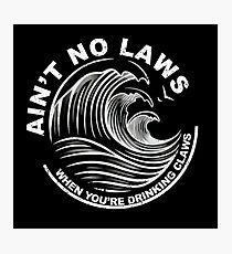 Lámina fotográfica Negro No hay leyes cuando bebes garras