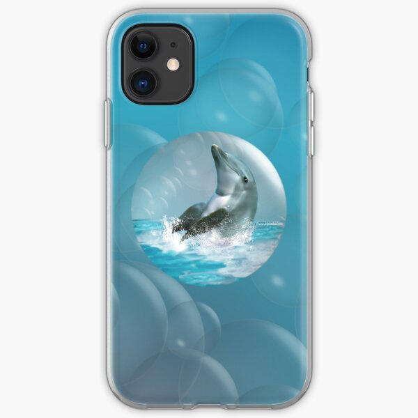 Bubble Dolphin iPhone Soft Case