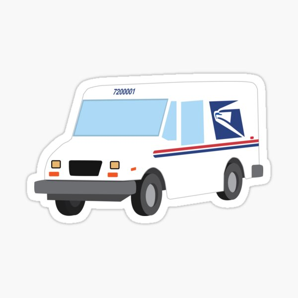 USPS Grumman LLV Mail Truck Sticker