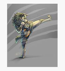 Kickboxing Wolf Link Photographic Print