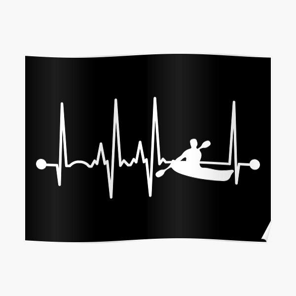 Kayaking Heartbeat Poster