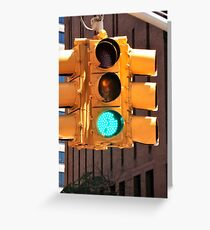 NYC traffic lights Greeting Card