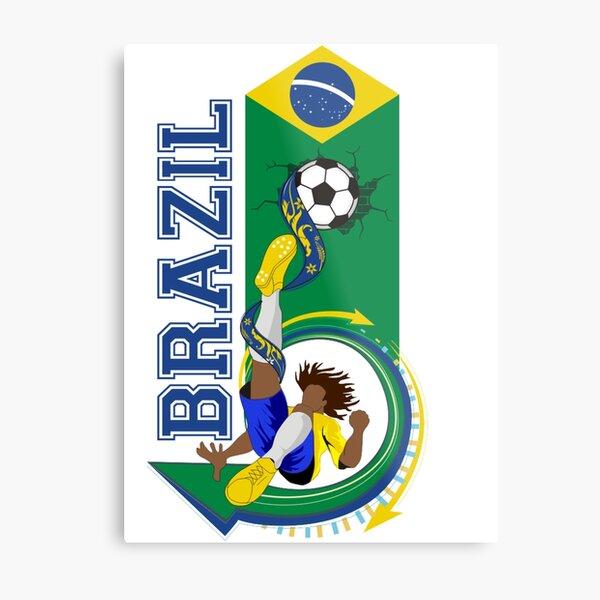 Brazil soccer Metal Print