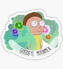 Rick and Morty - Fart - Moonmen Sticker