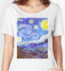 The Starry Night HDR Women's Relaxed Fit T-Shirt