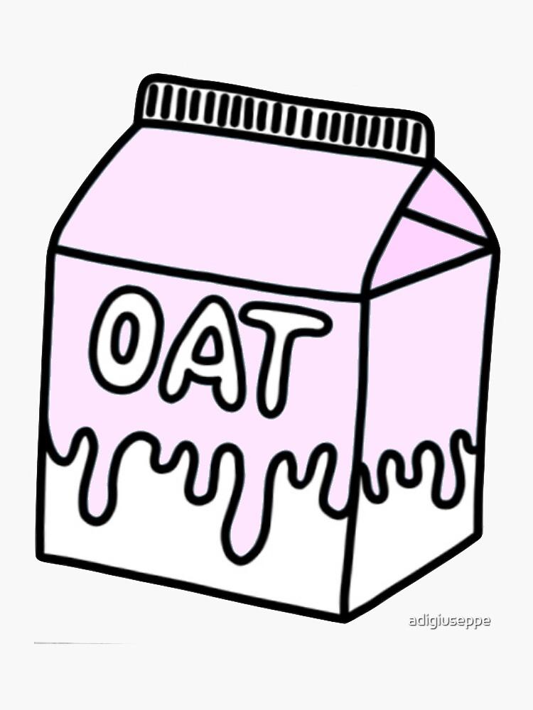 Pink Oat Milk Cartoon by adigiuseppe
