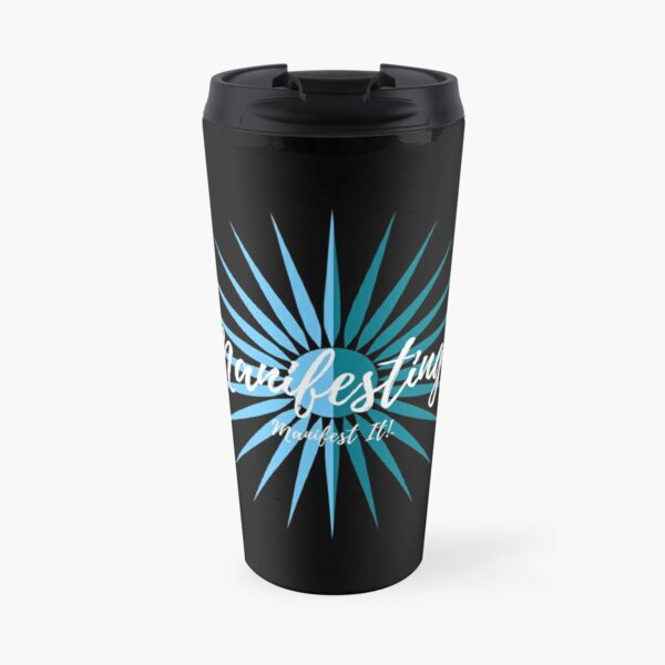 Manifest It! My Manifesting Mug Black & Blue Travel Mug