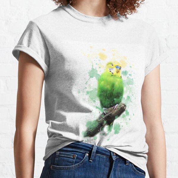 Budgie Watercolour Classic T-Shirt