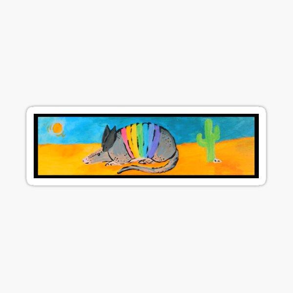 Rainbow Armadillo  Sticker