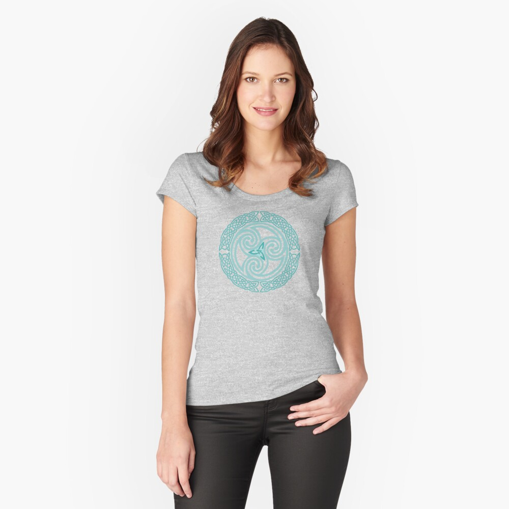 Moondogs in Winter Fitted Scoop T-Shirt