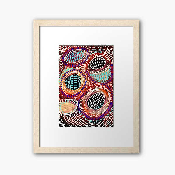 #564 - NATHALIE LE RICHE - ART and GIFTS - ABSTRACT DOTS and DASHES - Live It As If You Have It Framed Art Print