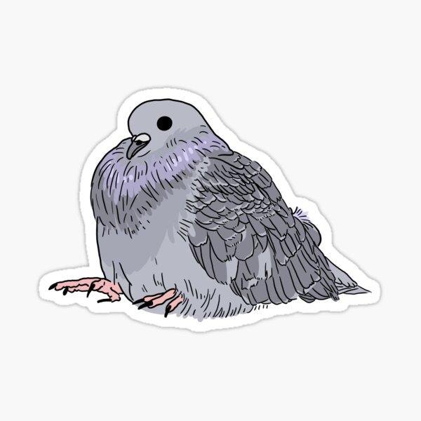 Fat Pigeon Sticker