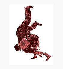 Judo Throw in Gi Red Photographic Print