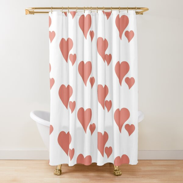 Two hearts like each other Shower Curtain