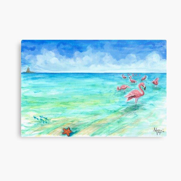 Flamingo Sea Metal Print