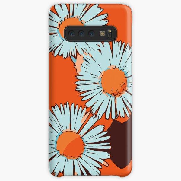 """Gänseblümchen orange florales Blumenmotiv """"WelikeFlowers"""" Samsung Galaxy Leichte Hülle"""