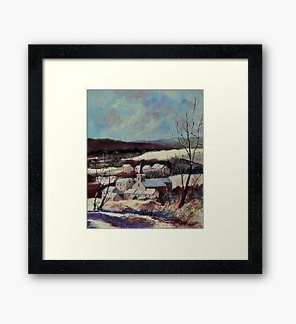 Snow in Vitrival Framed Print