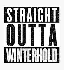 Adventurer with Attitude: Winterhold Photographic Print