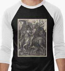 Albrecht Dürer or Durer Knight, Death and Devil Baseball ¾ Sleeve T-Shirt