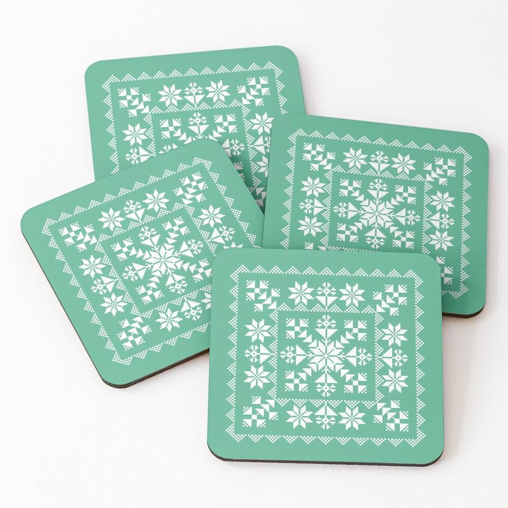 Nordic Folk Coasters (Set of 4)
