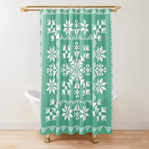 Nordic Folk Shower Curtain