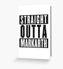 Adventurer with Attitude: Markarth Greeting Card