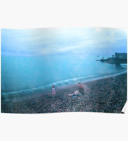 Rainy Day on Brighton Beach Poster