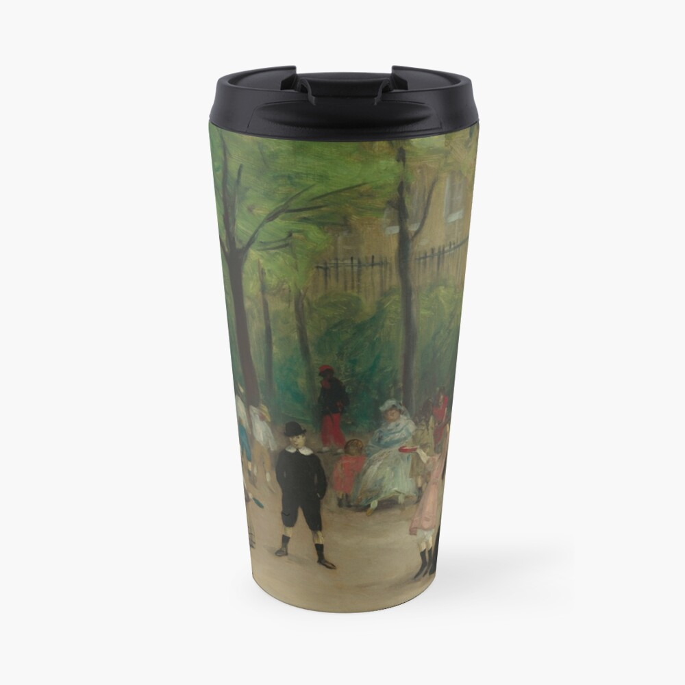 Luxembourg Gardens Oil Painting by William James Glackens Travel Mug