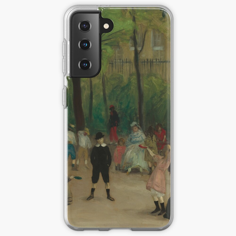 Luxembourg Gardens Oil Painting by William James Glackens Case & Skin for Samsung Galaxy